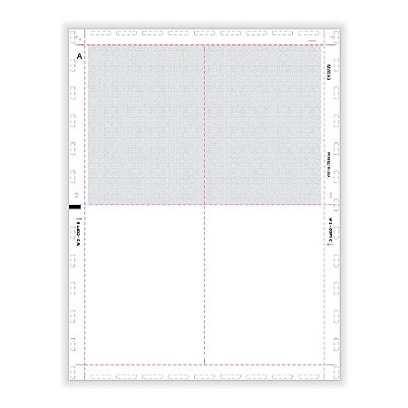 """ComplyRight™ W-2 Tax Forms, V-Fold With Pressure Seal, Blank, 4-Up Box Format, 8-1/2"""" x 11"""", Pack Of 500 Forms"""