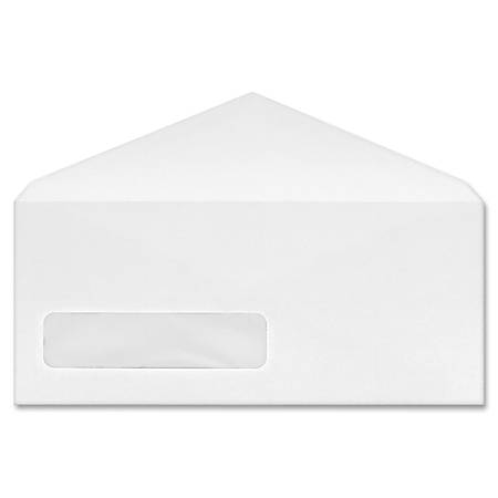 Business Source No. 9 V-flap Window Display Envelopes - Business - #9 - 24 lb - Gummed Flap - Wove - 500 / Box - White