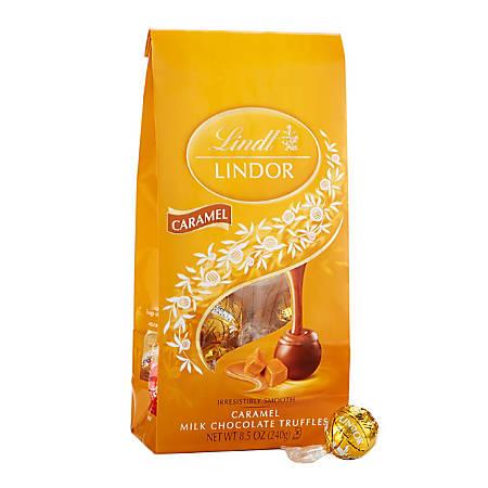 Lindor Chocolate Truffles, Milk Chocolate Caramel, 8.5 Oz, Pack Of 2 Bags