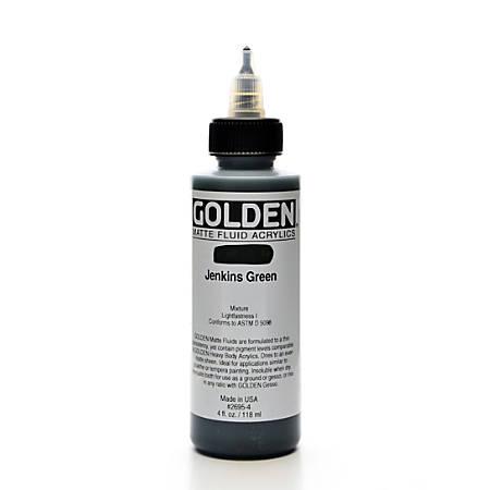 Golden Matte Fluid Acrylic Paint, 4 Oz, Jenkins Green