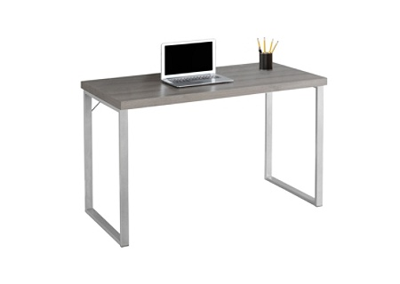 Monarch Specialties Contemporary Computer Desk Dark Taupe Silver Use And Keys To Zoom In Out Arrow Move The Zoomed Portion Of Image