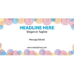 Custom Horizontal Banner Abstract Circle Patterns