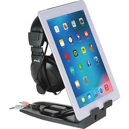 "Allsop Headset Hangout - Headset and Tablet Stand - 9.5"" x 3.5"" x 8"" - 1 Each - Black"