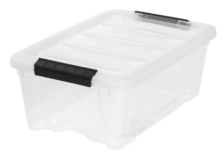 IRIS Latch Plastic Storage Bin 1295 Qt 16 12 x 11 x 6 12 Clear by