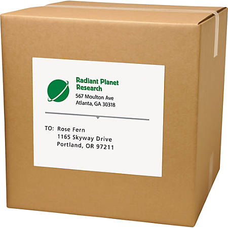 "Avery® Full-Sheet Matte White Labels, AVE91200, Permanent Adhesive, 8 1/2"" x 11"", Laser/Inkjet, White, Pack Of 500"