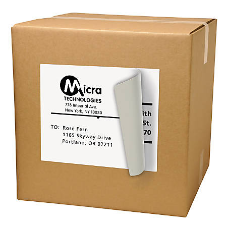 """Avery® TrueBlock Laser Shipping Labels, AVE91201, Permanent Adhesive, 8 1/2"""" Height x 11""""W, Laser, White, Pack Of 500"""