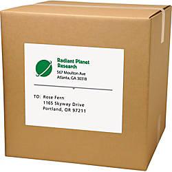 Avery TrueBlock Laser Shipping Labels Permanent