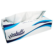 Windsoft 2 Ply Facial Tissues White