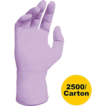 Kimberly-Clark Lavender Nitrile Exam Glove - Large Size - Nitrile - Lavender - Ambidextrous, Latex-free, Textured Fingertip, Beaded Cuff - For Laboratory Application - 2500 / Carton