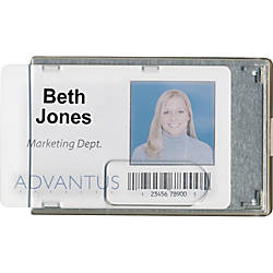 Advantus RFID Blocking Badge Holder Vertical