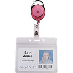 Advantus Neon Carabiner ID Reels 24