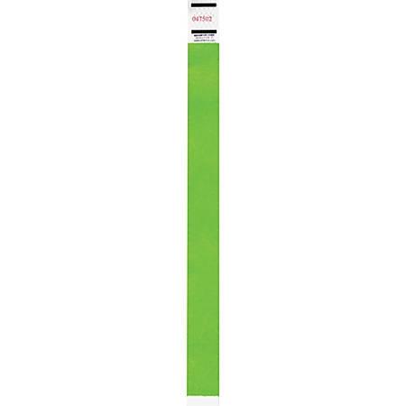 Advantus Neon Tyvek Wristbands - 500 / Pack - Neon Green - Tyvek