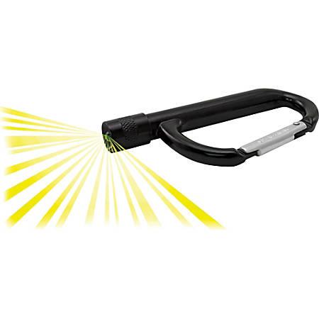 Advantus LED Light Carabiner - Aluminum - Black