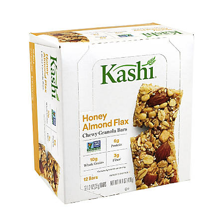 Kashi Honey Almond Flax Chewy Granola Bars, 12 Count, 2 Pack