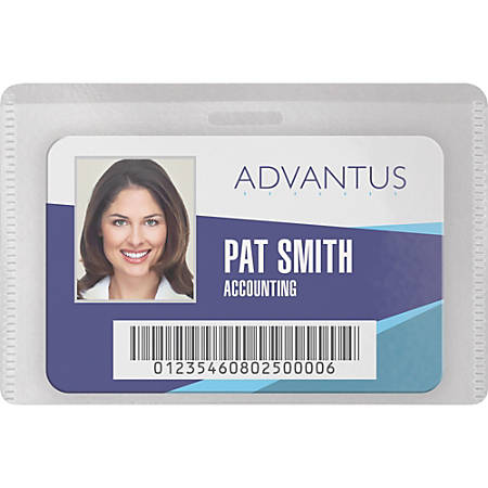 "Advantus DIY Magnetic Name Badge Kit - Horizontal - 3.8"" x 2.5"" - Plastic - 20 / Pack - White, Clear"