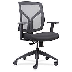 Lorell Mid Back MeshFabric Chair Black