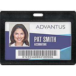 Advantus Horizontal Rigid ID Badge Holder
