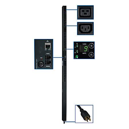 Tripp Lite PDU 3-Phase Monitored 208V 5.7kW L15-20P 30 C13; 6 C19 0URM