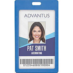 Advantus Vertical Rigid ID Badge Holder