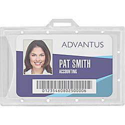 Advantus Clear ID Card Holders Horizontal