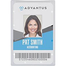 Advantus Clear ID Card Holders Vertical