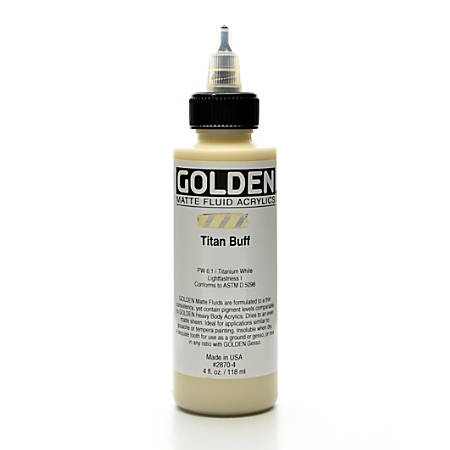 Golden Matte Fluid Acrylic Paint, 4 Oz, Titanium Buff