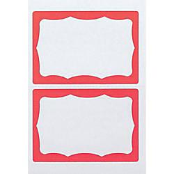 Advantus Color Border Adhesive Name Badges