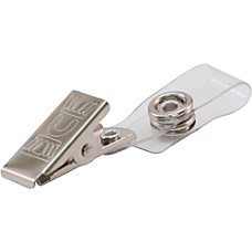 Advantus ID Badge Clip Adapters Metal