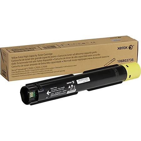 Xerox 106R037 High-Yield Toner Cartridge, Yellow (XER106R03738)