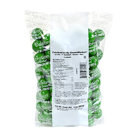 Sweetworks Gumballs, 2-Lb Bag, Green