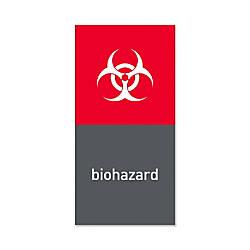 simplehuman Magnetic Trash Label Biohazard 4