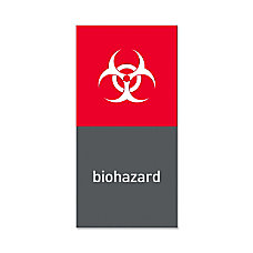 simplehuman Magnetic Trash Label Biohazard 4