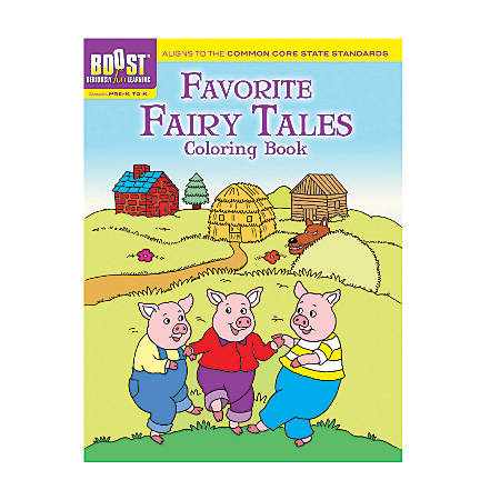 Dover Publications Boost™ Coloring Book, Favorite Fairy Tales, Grades Pre-K - K