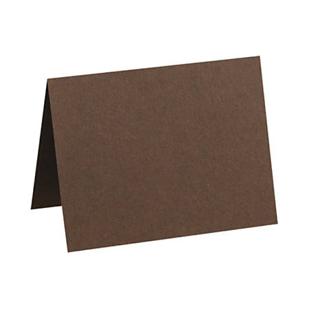 "LUX Folded Cards, A2, 4 1/4"" x 5 1/2"", Chocolate Brown, Pack Of 250"