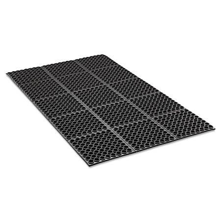Crown Safewalk™ Heavy-Duty Anti-Fatigue Drainage Mat, General Purpose, 3' x 5', Black