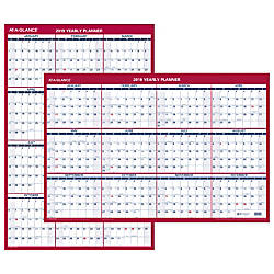 At A Glance Verticalhorizontal Erasable Wall Calendar 36 X 24