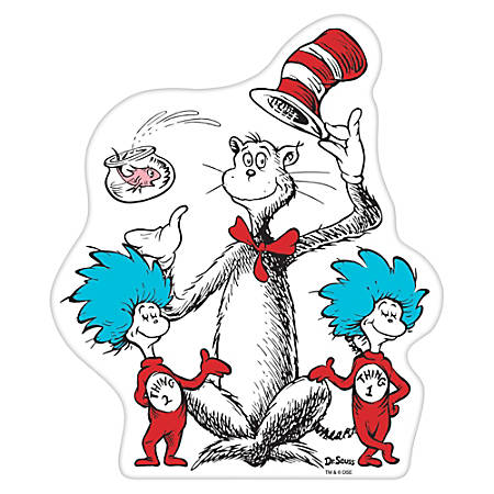 """Amscan Dr. Seuss Small Cutouts, 8"""" x 7"""", Multicolor, Pack Of 22 Cutouts"""