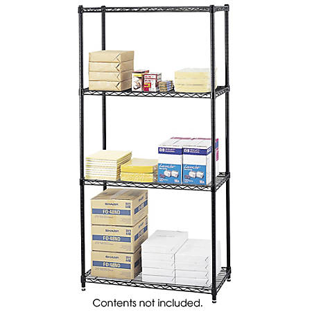 Safco® Commercial Wire Shelving, Black