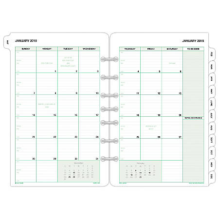 day timer monthly planner refill 5 12 x 8 12 january to december