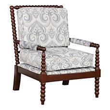 Linon Gardner Spindle Chair Blue PaisleyDark