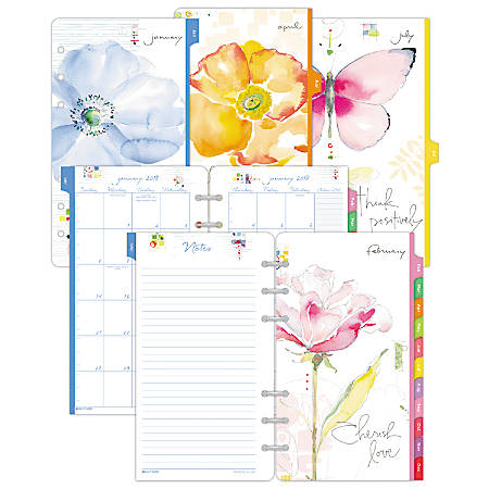 "Day-Timer® Kathy Davis® Monthly Planner Refill, 5 1/2"" x 8 1/2"", January To December 2019"