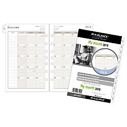AT A GLANCE Day Runner Monthly