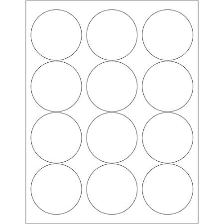 """Office Depot® Brand Glossy Circle Laser Labels, LL303, 2 1/2"""", White, Case Of 1,200"""