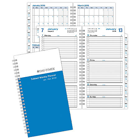 """Day-Timer® Weekly Planner Refill, 3 1/2"""" x 6 3/8"""", Simply Stated, January To December 2019"""