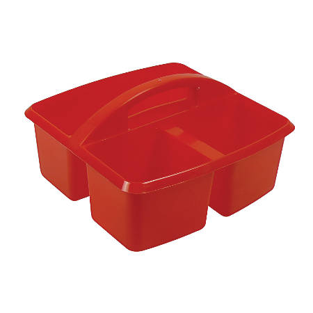 "Romanoff Small Utility Caddies, 9 1/4""H x 9 1/4""W x 5 1/4""D, Red, Pre-K - College, Pack Of 6"