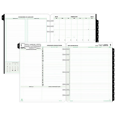 """Day-Timer® Daily Planner Refill, 8 1/2"""" x 11"""", January To December 2019"""