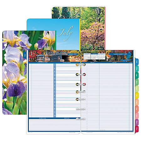 "Day-Timer® Daily Planner Refill, 5 1/2"" x 8 1/2"", Garden Path, January To December 2019"