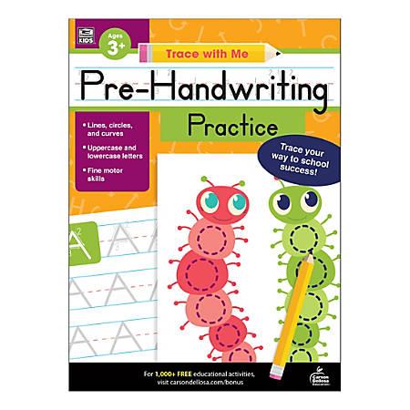 Carson-Dellosa Trace With Me Activity Book, Pre-Handwriting Practice, Preschool - Grade 2