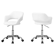 Monarch Specialties Office Chair WhiteChrome