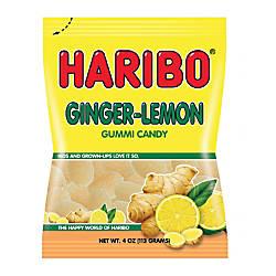 Haribo Ginger Lemon Gummies 5 Oz